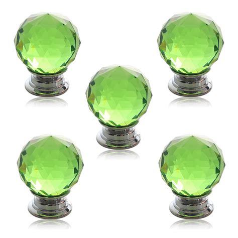green glass knobs for cabinets 5x clear 30mm green wardrobe cabinet drawer door handle cupboard knob ebay