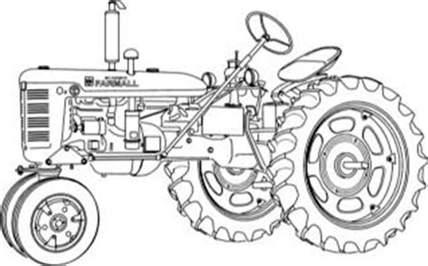 coloring pages farmall tractors how to draw farmall tractor