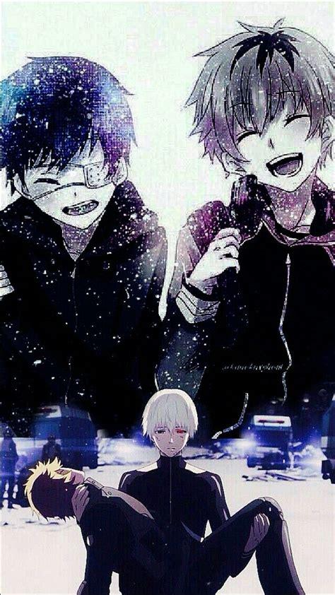 Kalung Anime Tokyo Ghoul Kaneki tokyo ghoul ken kaneki and hide wallpaper image