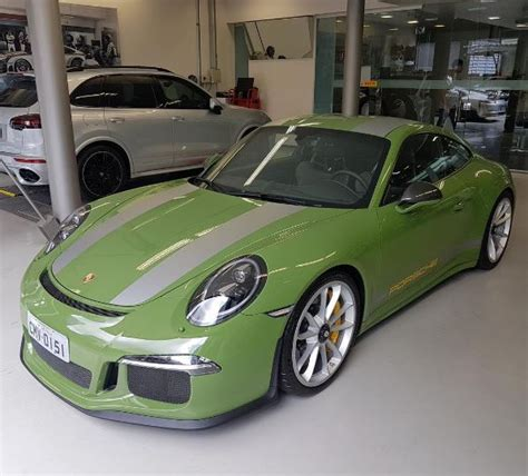 Olive Green Porsche 911 R With Silver Stripes Is Another