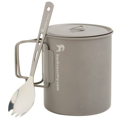 backcountry titanium cookset 700ml pot spork backcountry