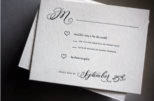 unique wording for wedding response cards rsvp cards wording quot be there in spirit quot wedding cards creative and cocktails