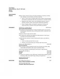 Sample Resume For Delivery Driver awesome delivery driver resume sample resume format web