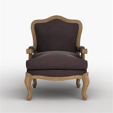louis xv classic chair cgtrader