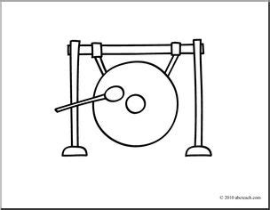chinese instruments coloring pages clip art basic words gong coloring page i abcteach com