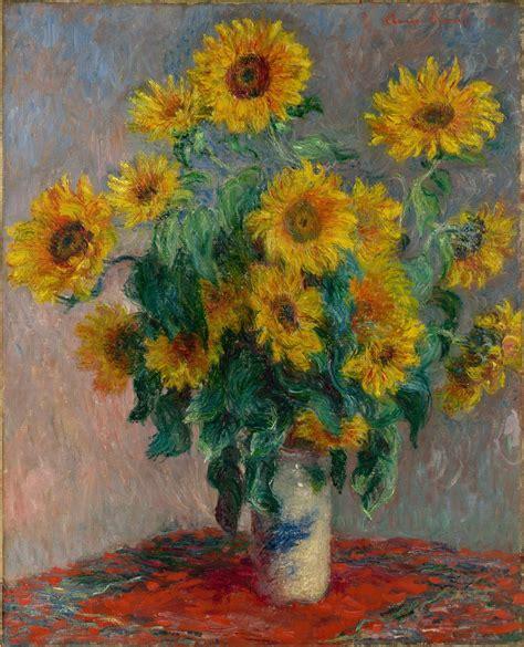 claude monet bouquet  sunflowers  met