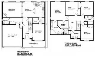 Two Story House Floor Plans Canadian Home Designs Custom House Plans Stock House