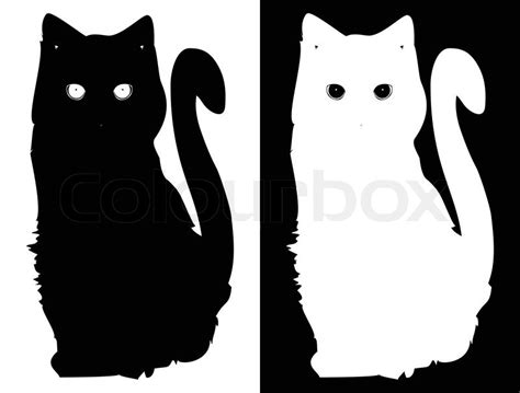 cat vector wallpaper white and black cats vector background stock vector