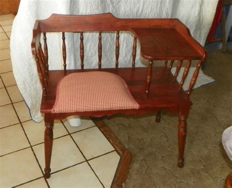 telephone table with seat cherry telephone bench gossip bench bn5 ebay