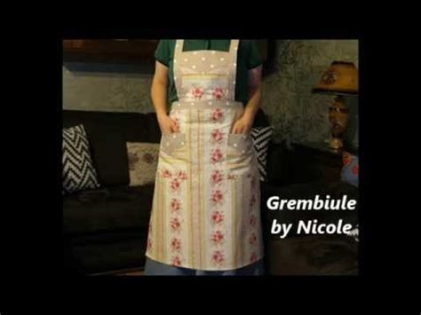 sewing apron youtube tutorial come realizzare un grembiule sewing an apron