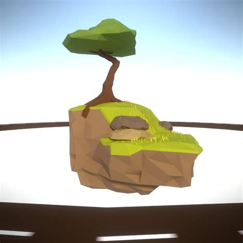 simple voxel floating island blender 3d youtube driving around a floating island lowpoly by hitchhock on