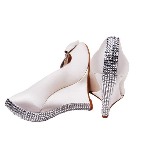 wedge wedding shoes are a popular choice amongst brides