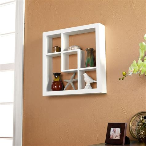 wall display shelves home decorators collection 41 in x 48 5 in cherry