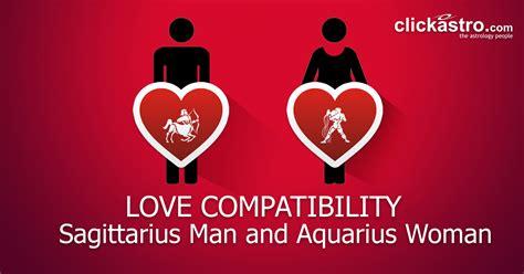sagittarius man  aquarius woman love compatibility  clickastrocom