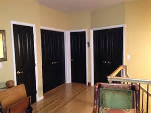 Painted Interior Doors interior doors painted black love it doors