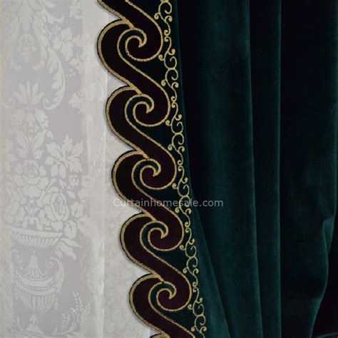 dark green blackout curtains dark green velvet thick fabric noise reducing blackout curtain