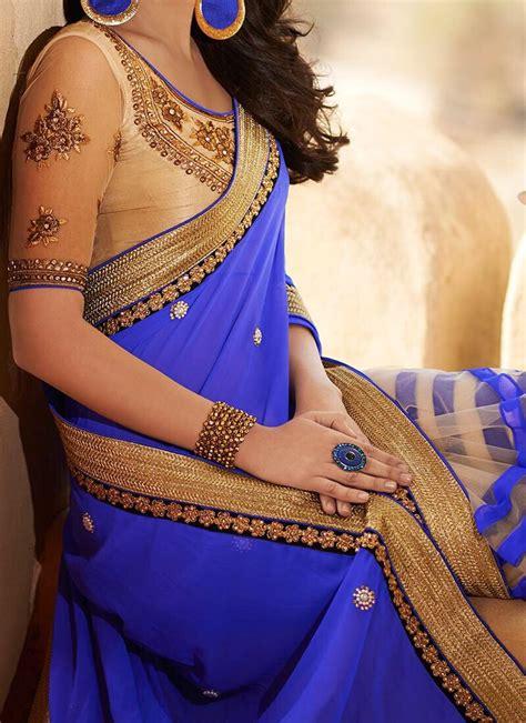 Azure Fashion Blouse Brina Navy best 25 blue saree ideas on indian dress sari
