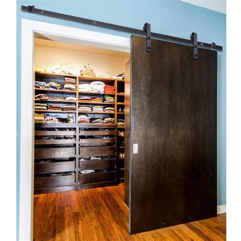 Closet Rail System 5ft 6 6ft Wood Door Barn Hardware Closet Set Sliding