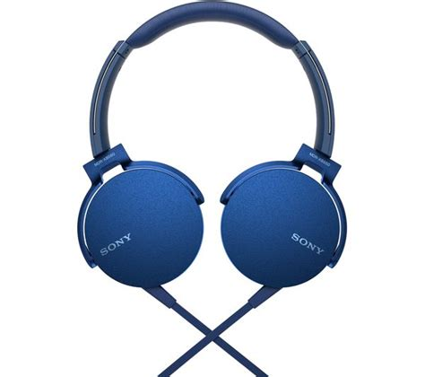 Headphone Sony Bass Mdr 10 Rc sony bass mdr xb550ap headphones blue deals pc world