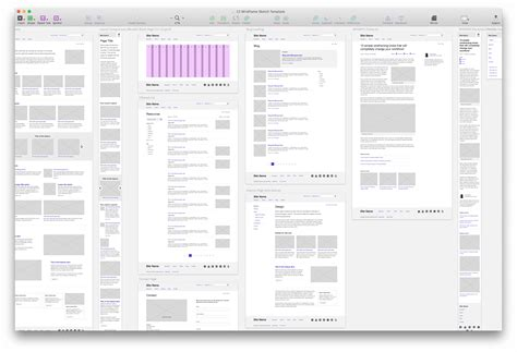 wireframing template for sketch chapter three