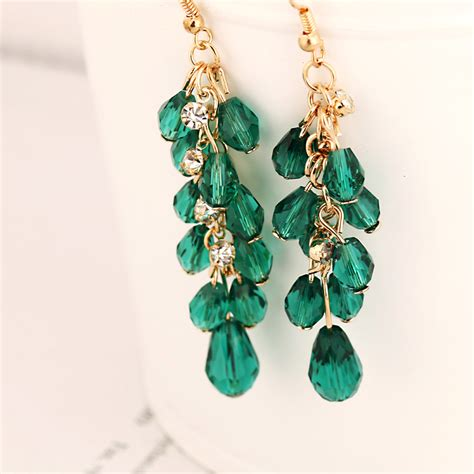Tassel Color Nightclubs Earrings Black 02a1d9r 1 2016 europe and the united states exaggeration is shining
