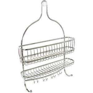 york hanging shower caddy polished chrome in shower caddies