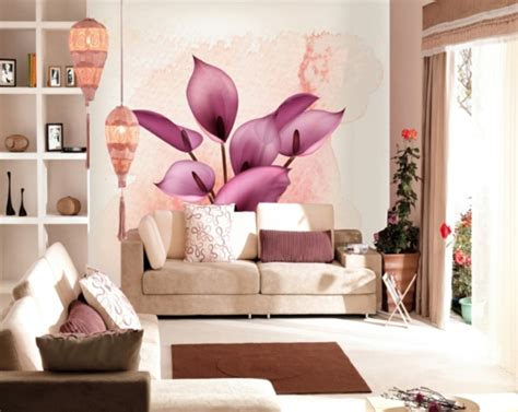 Wallpaper Dinding Motif Bunga Dan Postcard 20 contoh hiasan dinding ruang tamu dirumahku