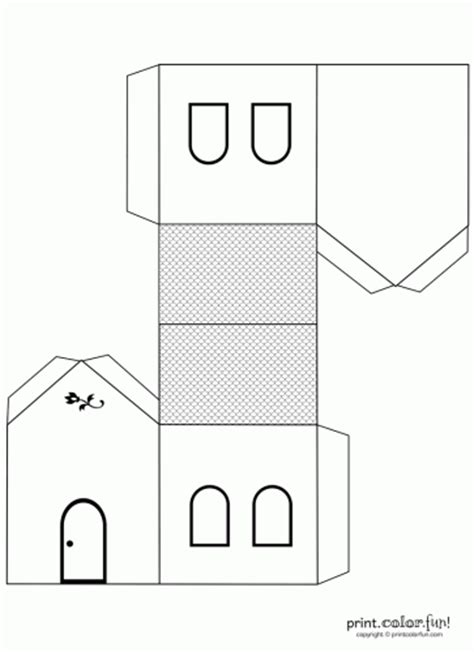 house pattern coloring page house cutout craft to color coloring page print color fun