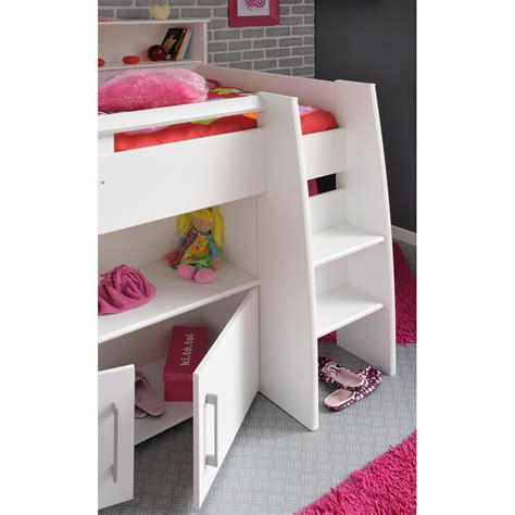 bureau enfant swan mid sleeper with desk and storage beds