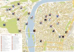 tourist attractions map prague printable tourist map sygic travel