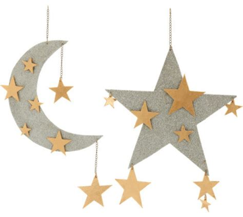 star home decorations bethany lowe designs large moon and stars ornament
