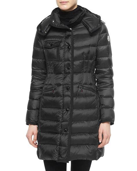 Puffer Coat lyst moncler hermine hooded puffer coat in black
