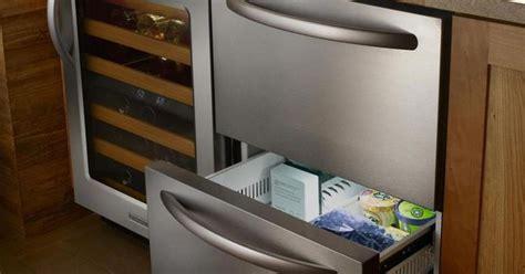 kitchenaid undercounter refrigerator freezer drawers kitchenaid architect ii 24 inch built in double