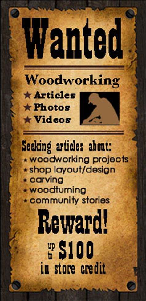 Highland Newsletter Submisson Woodworking Articles