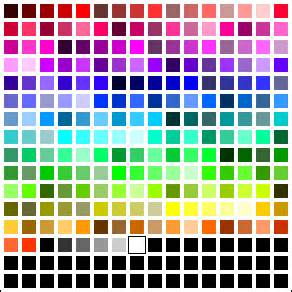 all of the colors browser safe colors