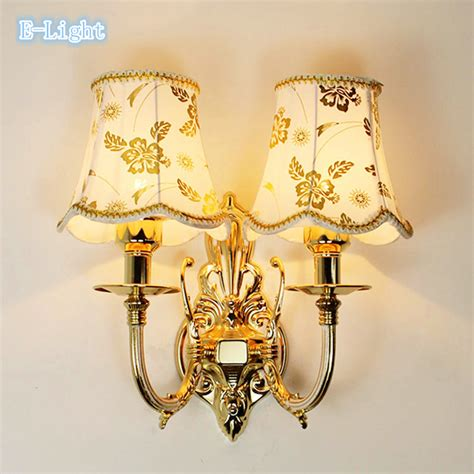 gold crystal wall lights bedroom wall l gold bed lighting simple european stair
