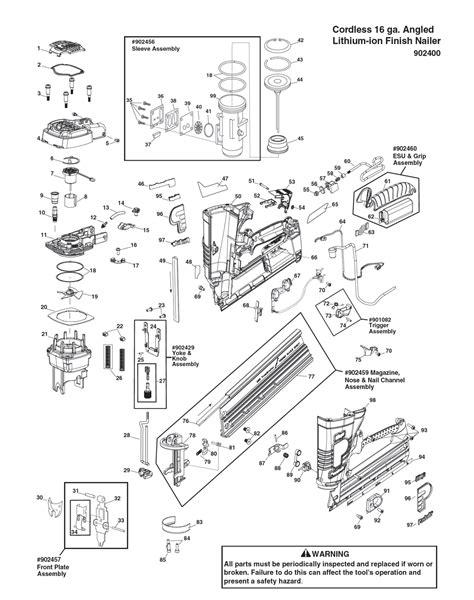 paslode framing nailer parts diagram buy paslode 902400 im250a li replacement tool parts