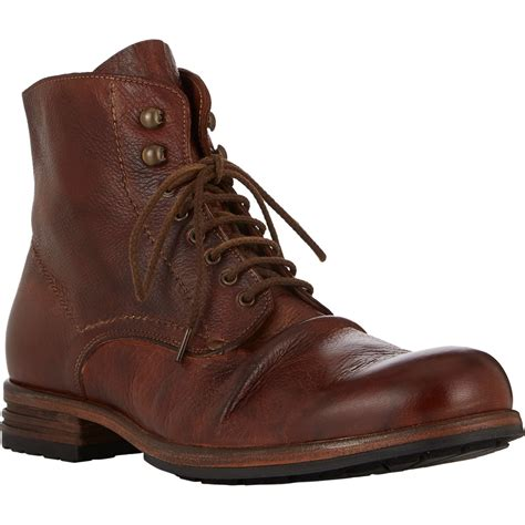 shoto wrinkled boots in brown for brown lyst