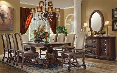 Formal Dining Room Tables ashley formal dining room table set