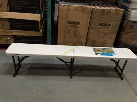 lifetime 6 folding table costco lifetime products 6ft fold in half bench 80451 costcochaser
