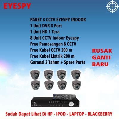Terbaru Paket 4 Channel 4 Kamera Indoor eyespy jual cctv dan dvr paket eyespy garansi auto
