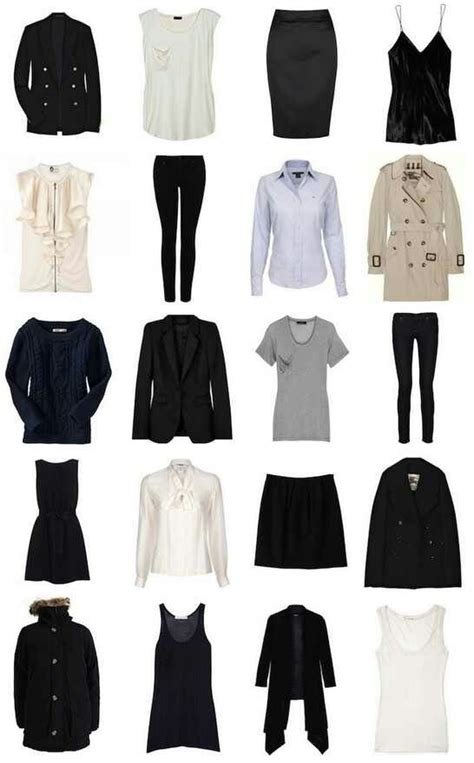 classic wardrobe all staple clothing items every girl should have