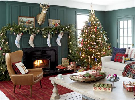 arrange living room with christmas tree decorilla