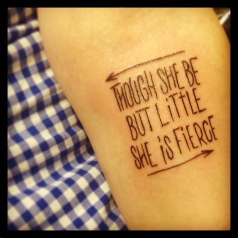 though she be but little tattoo 25 best ideas about fierce on wrist