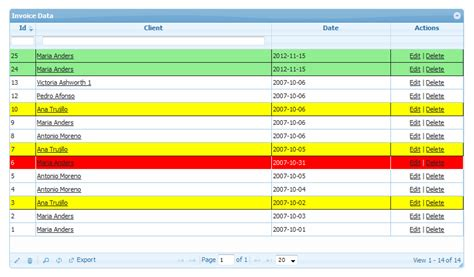 php grid date format conditional row formatting php grid
