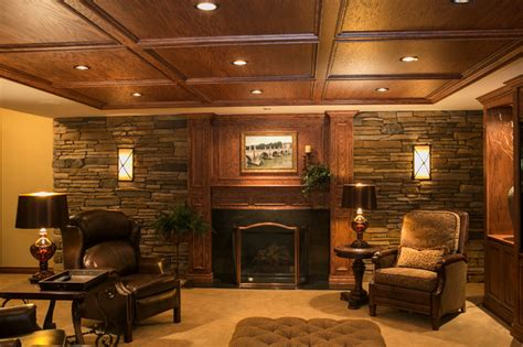 Tuscan Home Interiors Tuscan Style Traditional Home Theater Detroit By