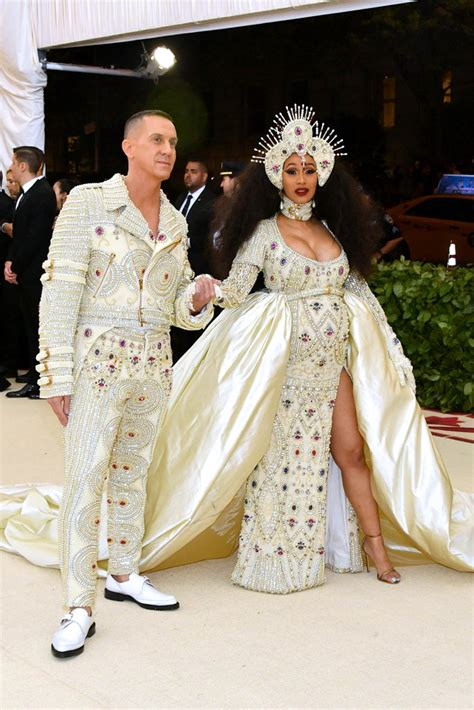 Dress Cardi cardi b met gala dress 2018 popsugar fashion uk photo 1