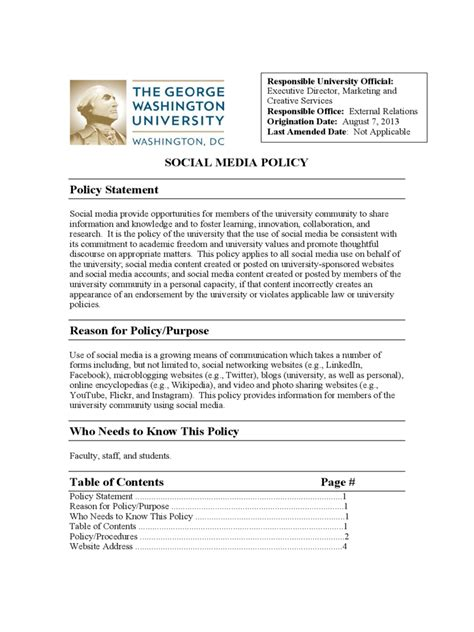 social media guidelines template social media policy template 11 free templates in pdf