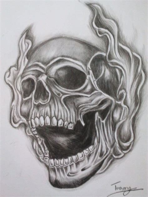 smoke tattoo designs skull and cross designs smoke skull by