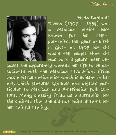 biography for kids farida kahlo famous painters for kids mocomi com